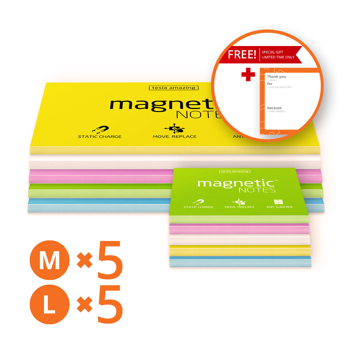 10 pads of Magnetic Notes + FREE GIFT Feedback Cards