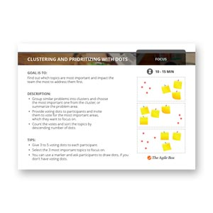 Retrospective Card: Clustering and Prioritizing with Dots